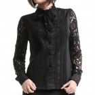 Shirt with Lace Sleeves