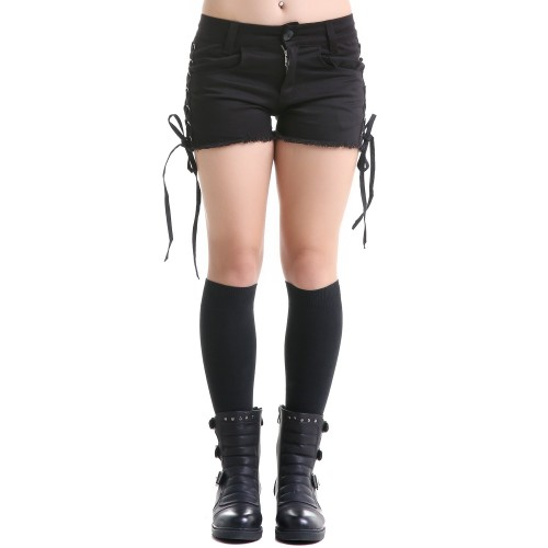 Shorts with Lacing on the Sides