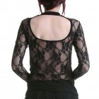T-Shirt with Back Made of Lace
