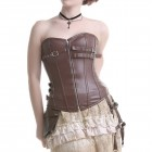 Brown Corset with Lacing