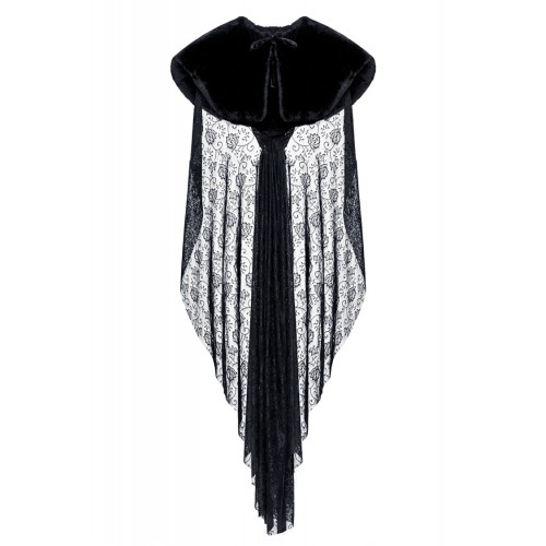 Cape Made of Velvet and Lace