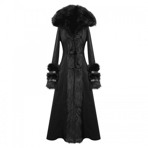 Black Jacket with Artificial Fur