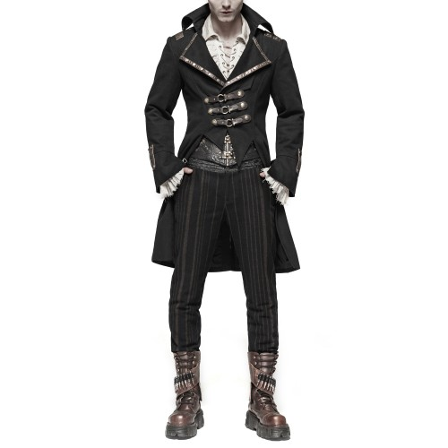 Jacket with Buckles for Men