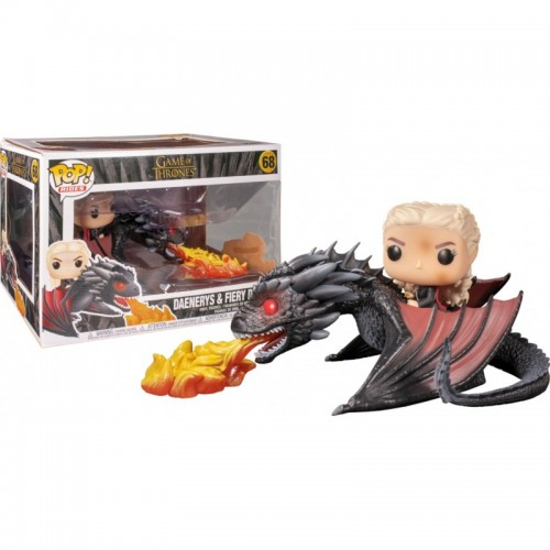 POP! RIDES: GAME OF THRONE - DAENERYS ON FIERY DROGON - 68